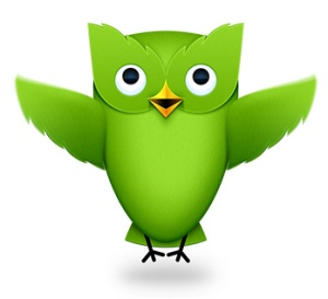 "Duo the Duolingo owl says, ""Si, se puede!"""
